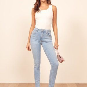 Reformation High & Skinny Jeans - Colour Amalfi